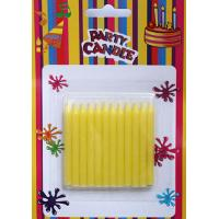 Quality Yellow Glitter Birthday Candles (SFC0035) for sale