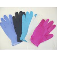 Wholesale Colored Powder Free Nitrile Disposable Gloves For Medical / Industry Field from china suppliers