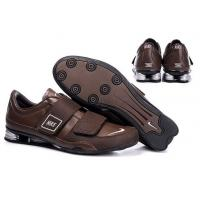 China Mens Nike Shox R3 Running Shoes Brown on sale