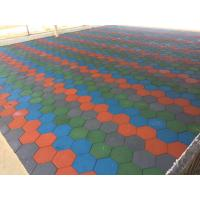 Buy cheap Anti Skid Outdoor Rubber Mats , Shock Absorption 15-60mm Rubber Play Tiles from wholesalers