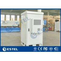 China Front Access Outdoor Electrical Cabinets And Enclosures Galvanized Steel Single Wall 40U for sale