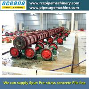 China Centrifugal concrete Pile Spun Machine on sale