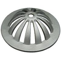 China Sand Casting and Die- Casting Aluminum Heavy Duty Roof Drain Dome Strainer and Clamping Ring For Roof Drainage for sale