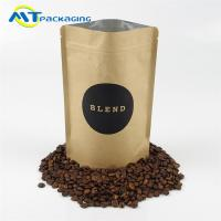 Wholesale Multi Color Biodegradable Ziplock Bags , Recycled Kraft Paper Stand Up Pouch from china suppliers