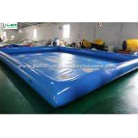 Wholesale Regular rectangle blue water ball inflatable water pool for kids water fun in summer from china suppliers