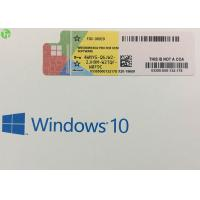 China Online Activation Windows 10 Professional Key Code , Genuine Win 10 Pro OEM Key for sale