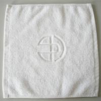 Wholesale 5 star hotel white cotton hand towels face towels square towels with logo jacquard from china suppliers