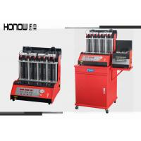 Quality Car Automatic Ultrasonic Fuel Injector Cleaning Machine 8 Cylinders 250W Power for sale