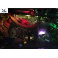 Wholesale Full Size Garden Statues Moving Dinosaur Models With Light , Realistic Raptor Dinosaur from china suppliers