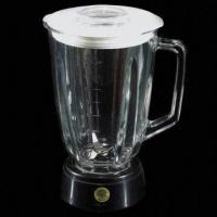 China 1.5L Glass Blender Jar with Plastic Cover, Base with Blade, Soda Lime Glass Material, Easy to Clean on sale