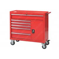 China Red 6 Drawer 1 Door Rolling 42 Inch Tool Cabinet Security Cylinder Lock for sale