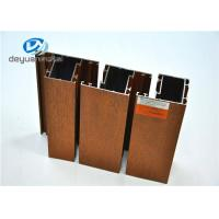 Wholesale High Precision Wood Grain Aluminum Profiles Polishing For Doors / Window from china suppliers