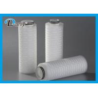 Best PTFE 5 Pleated Water Cartridge Filter Element For Fermentation Tank wholesale