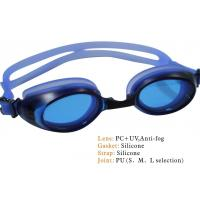 China swimming goggle, silicon strap, silicon frame,pc lens on sale