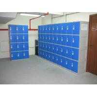 Wholesale Highly Water Resistant Red Shoe Storage Locker Gray Body 4 Comparts per Column from china suppliers