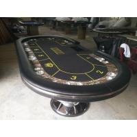 Wholesale Fold Away Poker Table Texas Holdem Poker Tables MDF / PU / Plastic 213 * 106 * 75cm from china suppliers