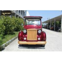 Red Color Custom Aluminum Chassis Classic Golf Cart Shuttle Bus With Roof for sale