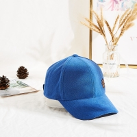 Wholesale Winter Blue Towel Velvet Warm Leather Patch Sun Hat from china suppliers