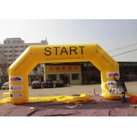 Wholesale Outdoor big custom size inflatable start line arch with logo fully digitally printed from china suppliers