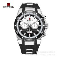 Wholesale Silicone Band Mens Stainless Steel Watches Fake Chronograph With Big Face from china suppliers