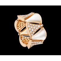 Best Bvlgari DIVAS' DREAM ring in 18 kt pink gold with mother of pearl and pavé diamonds. Ref. AN856775 wholesale