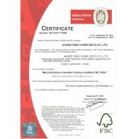 Hangzhou Olay Furniture Co., Ltd. Certifications