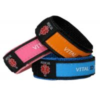 Wholesale Adjustable Nylon Vital ID Bracelet Color Customized With Waterproof ID Tag from china suppliers