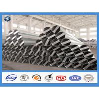 Buy cheap Q345 Material 35FT 3mm Thick Hot Dip Galvanized Electric Steel Poles from wholesalers