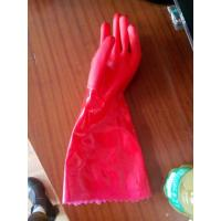 China protective Red PVC dipped glove oil resistance gloves working gloves on sale
