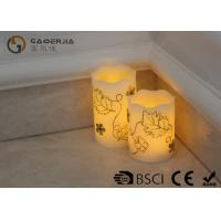 Wholesale Luxury Carved Craft real Wax led Candles with flower pattern , painting candle from china suppliers