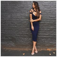 Best Eco - Friendly Black Bandage Skirt , Bandage Halter Dress Breathable wholesale