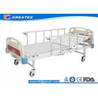 Wholesale Aluminum Alloy Handrail Single Crank Manual Hospital Bed With Silent Wheels from china suppliers