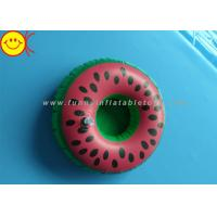 Best Watermelon Inflatable Water Floats / Pool Floats Customized Inflatable Cup Holder wholesale