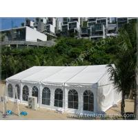 Creening Activities Holding in the UV Resistant White Fabric Roof Event Tent