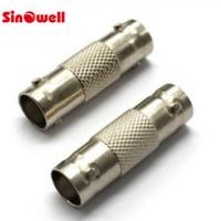 China RG58 RG142 Cable 2 Pin BNC Cable Connector , BNC Double Female Connector CCTV on sale