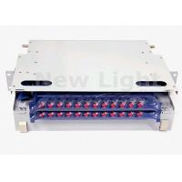 China White ODF Optical Distribution Frame , 19 Inch ODF Fiber Optic Patch Panel 24 Port on sale