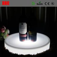 China Nightclub Bar use Color Changing Plastic LED Service Tray for Wine Bottle/Round Plastic Wine Bottle Tray/Led Tray on sale