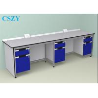 China Wood Steel Lab Furniture For School , laboratory Work Bench on sale
