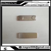 China Metal Magnet fastener for badges 45 mm x 13 mm for clothing for sale