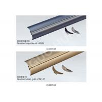 Best Violet Gold Power Coat / Brushed Aluminium Channel Sections For Soft Sheer Curtain Different Colors wholesale