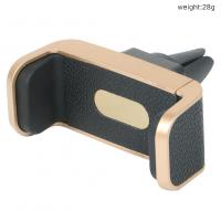 Wholesale 360 Rotating Leather Pattern Adjustable Clamp Air Vent Car Mount Holder for Samsung Galaxy S8 from china suppliers