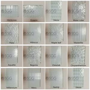 Wholesale 3mm 4mm 5mm 6mm Diamond Chinchilla Flora Nashiji Rolled Glass Figured Glass Pattern Glass from china suppliers