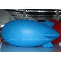 Best 0.2mm PVC Blue Color Inflatable Airship Balloon , Advertising Air Balloons wholesale