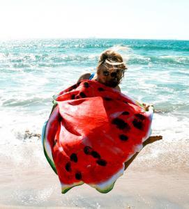 Large Watermelon Microfiber Printed Round Beach Towels With Tassel Circle Beach Towel Serviette De Plage