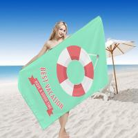 China Digital Printed Quick Dry Beach Towel , Travel Beach Towel Promotional Large Thick for sale
