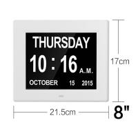 Wholesale 8 Inch Video Brochure Card LED Digital Desk Electronic Perpetual Calendar Alarm Day Clock from china suppliers