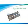 Copper RJ45 SFP Optical Transceiver , optical fiber transceiver Gigabit Ethernet 10/100/1000M for sale