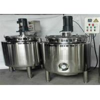 Wholesale 100L 8000L Capacity Juice Storage Tanks Blending Vat Mixing Vessel With Mixer from china suppliers