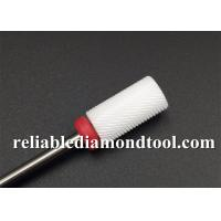 Buy cheap Red Color Fine Grit Large Barrel Ceramic Nail Drill Bits Nails Electric Drill Bits File Kit from wholesalers