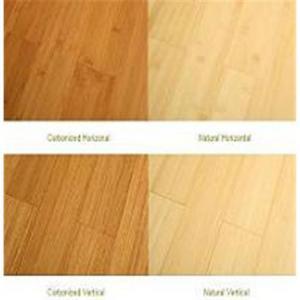 Horizontal caramel bamboo flooring